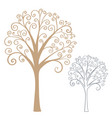 abstract stylized tree vector image