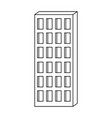 apartment building icon monochrome silhouette vector image