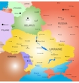 Belarus and Ukraine country vector image