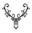 Creative art icon stylized deer vector image