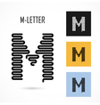 Creative M - letter icon abstract logo design vector image