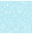Creative seamless school pattern with white pen vector image