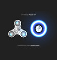 fidget spinners popular antistress hand toys eps vector image