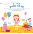 Girl happy birthday gifts vector image