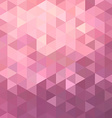 Pink triangle background vector image