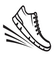 Running shoes icon3 vector image