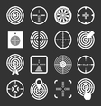 Set icons of target and sights vector image