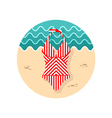 Swimsuit icon Summer Vacation vector image