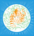 tiger icon in nature icon vector image