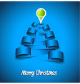 Paper Tag Christmas Background vector image