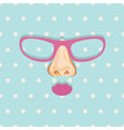 Glasses background vector image vector image