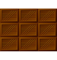 seamless chocolate bars vector image