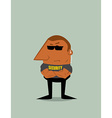 Cartoon Security man vector image