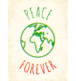 peace forever vector image vector image
