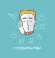 Procrastinating vector image