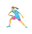 Female player is playing Ultimate Frisbee vector image