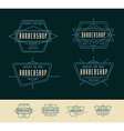 Barber Shop Logo Vintage Logo Design vector image