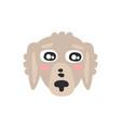 cute grey dog face funny cartoon animal character vector image