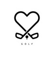 golf love icon in black color vector image