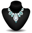Necklace of diamonds vector image
