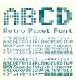 Pixel font vector image