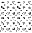 Seamless black and whight pattern with fashion vector image