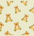 seamless pattern with teddy vector image