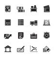 Silhouette business and office icon vector image