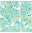 Spring berries seamless pattern background vector image