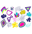 trendy colorful set of objects for design vector image
