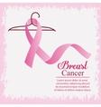 ribbon hook breast cancer design vector image