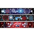 July 4th firework banners vector image vector image