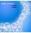 Wave of bubbles vector image