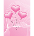 pink hearts vector image vector image