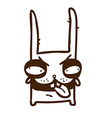 Hand Drawn Evil Bunny vector image