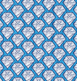 Cartoon diamond background vector image vector image