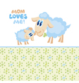 sheep mom and baby vector image