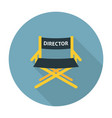 Directors chair flat icon vector image