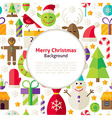 Flat Merry Christmas Background vector image