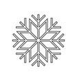 snowflake ornament icon vector image