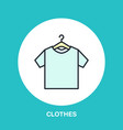 t-shirt on hanger icon clothing shop line logo vector image