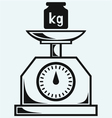 Weight scale and weight kilogram vector image
