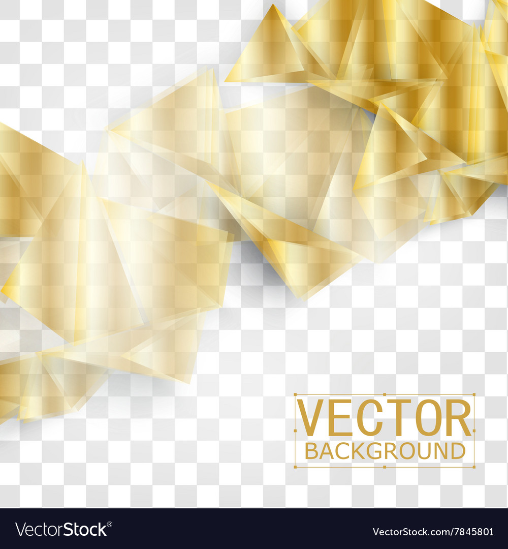 Abstract geometric gold background vector