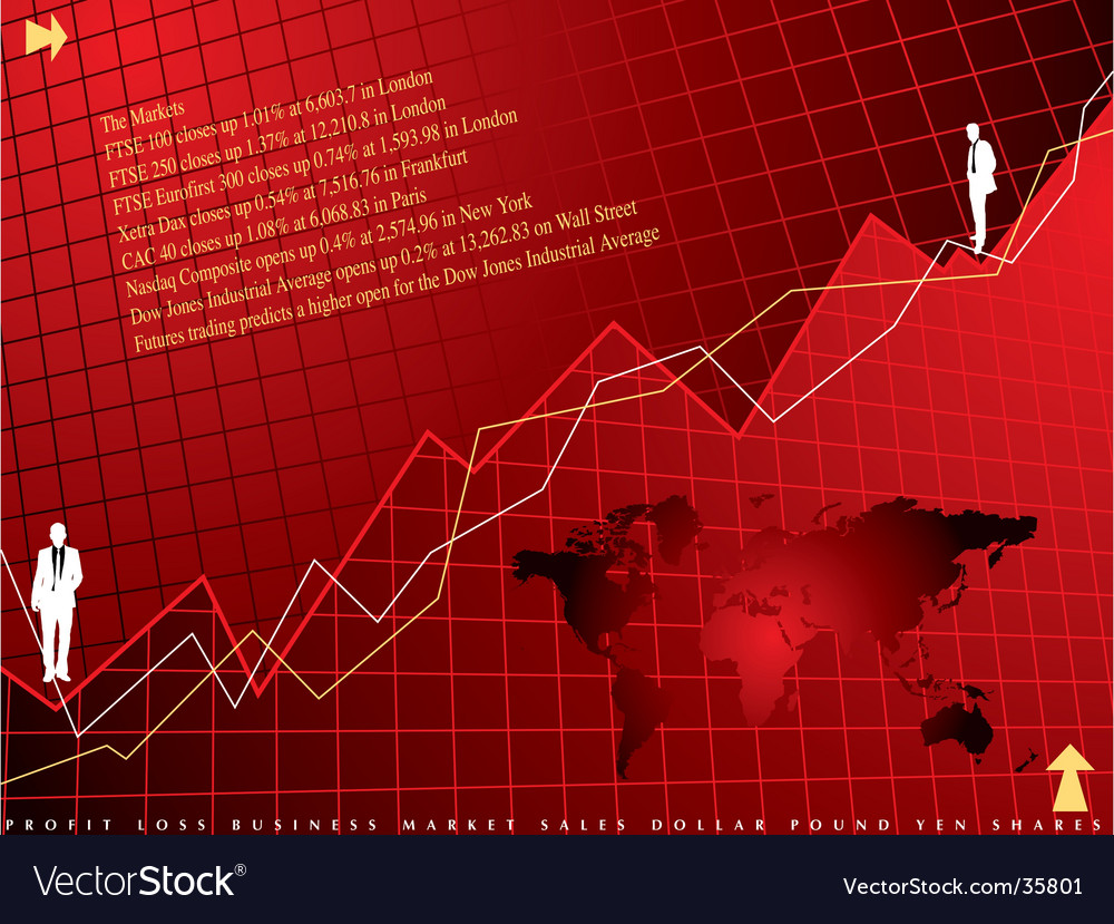 Financial background vector