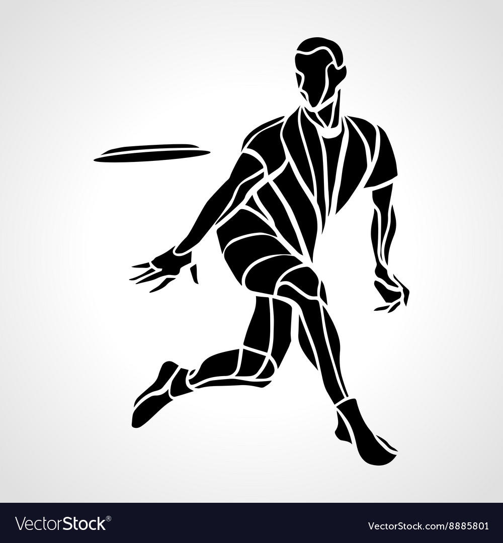 Sportsman throwing ultimate frisbee vector