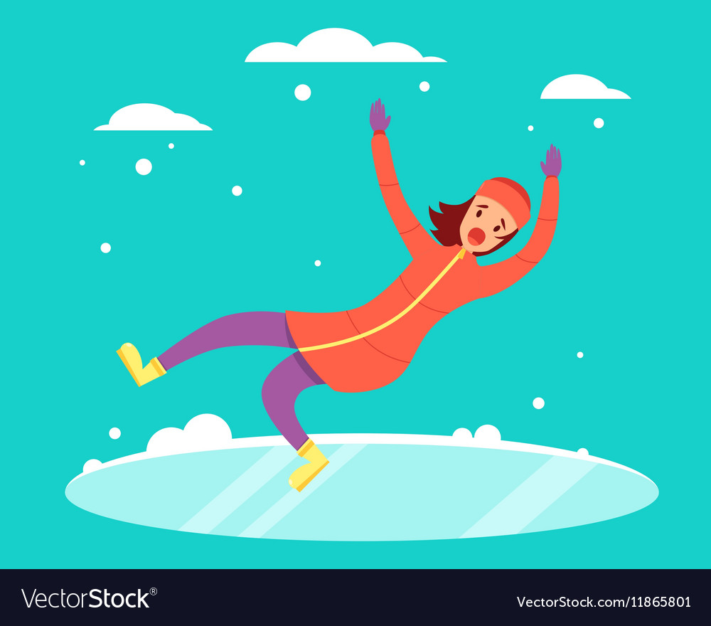 Woman slipped vector
