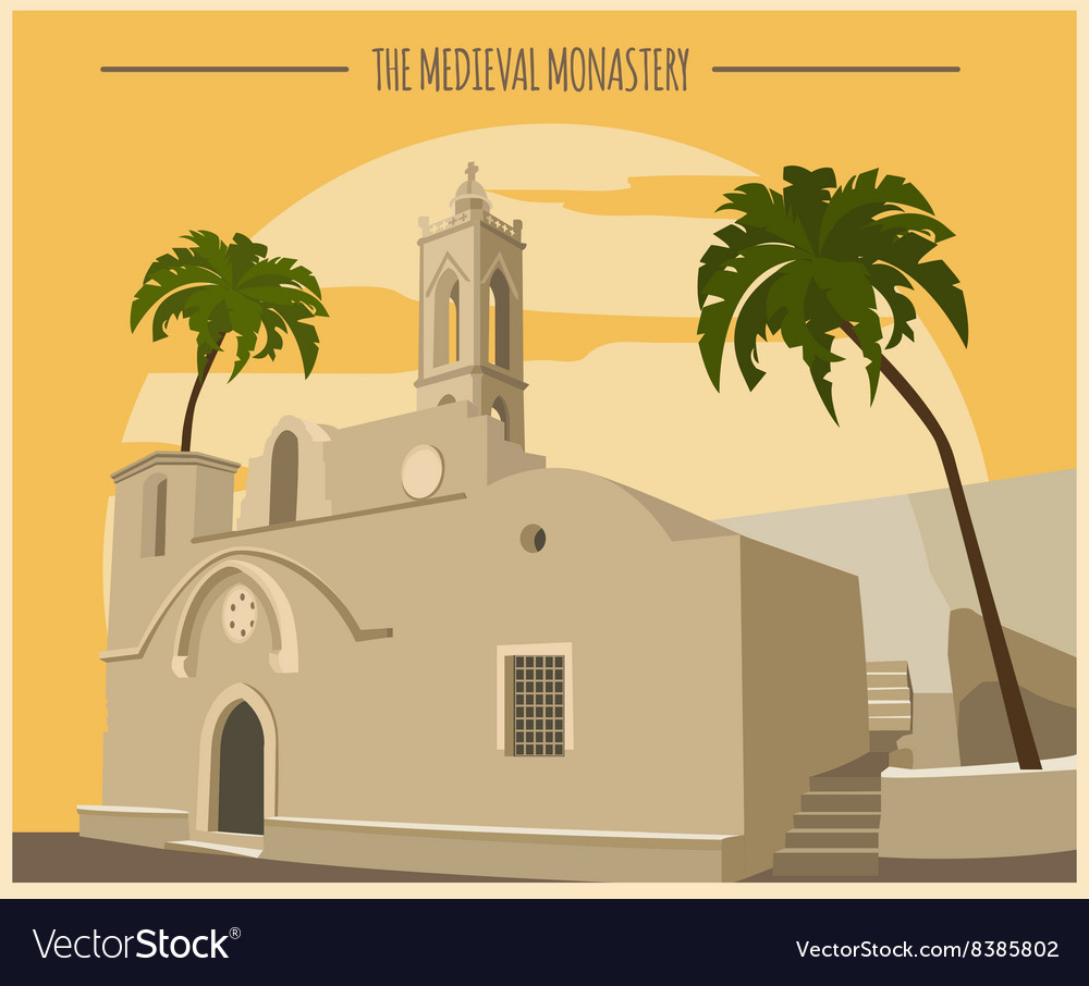 City buildings graphic template ayia napa vector