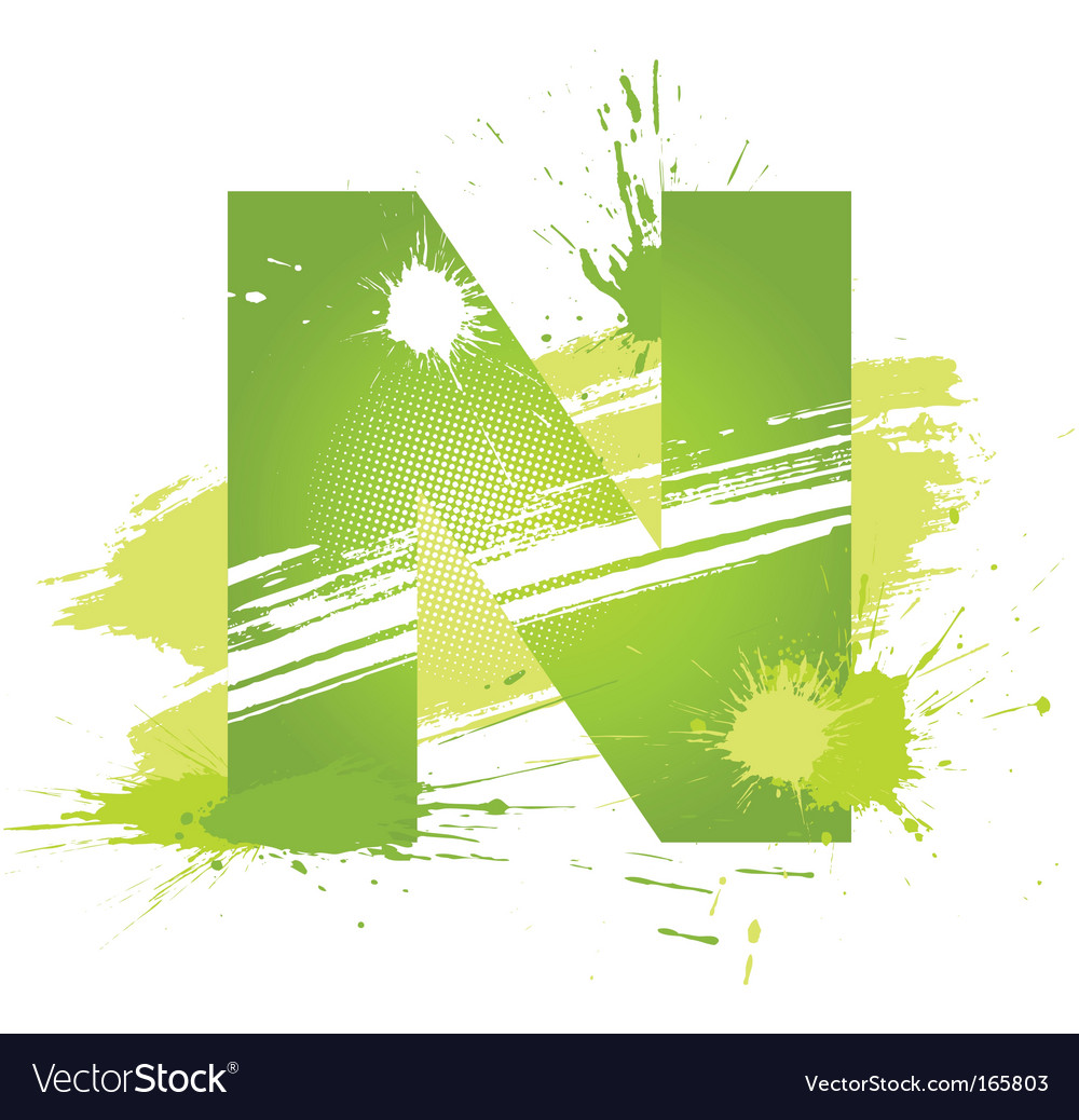Letter n background vector