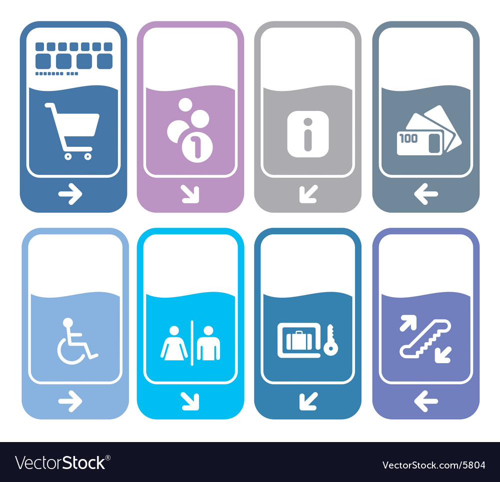 Contemporary shopping signs vector