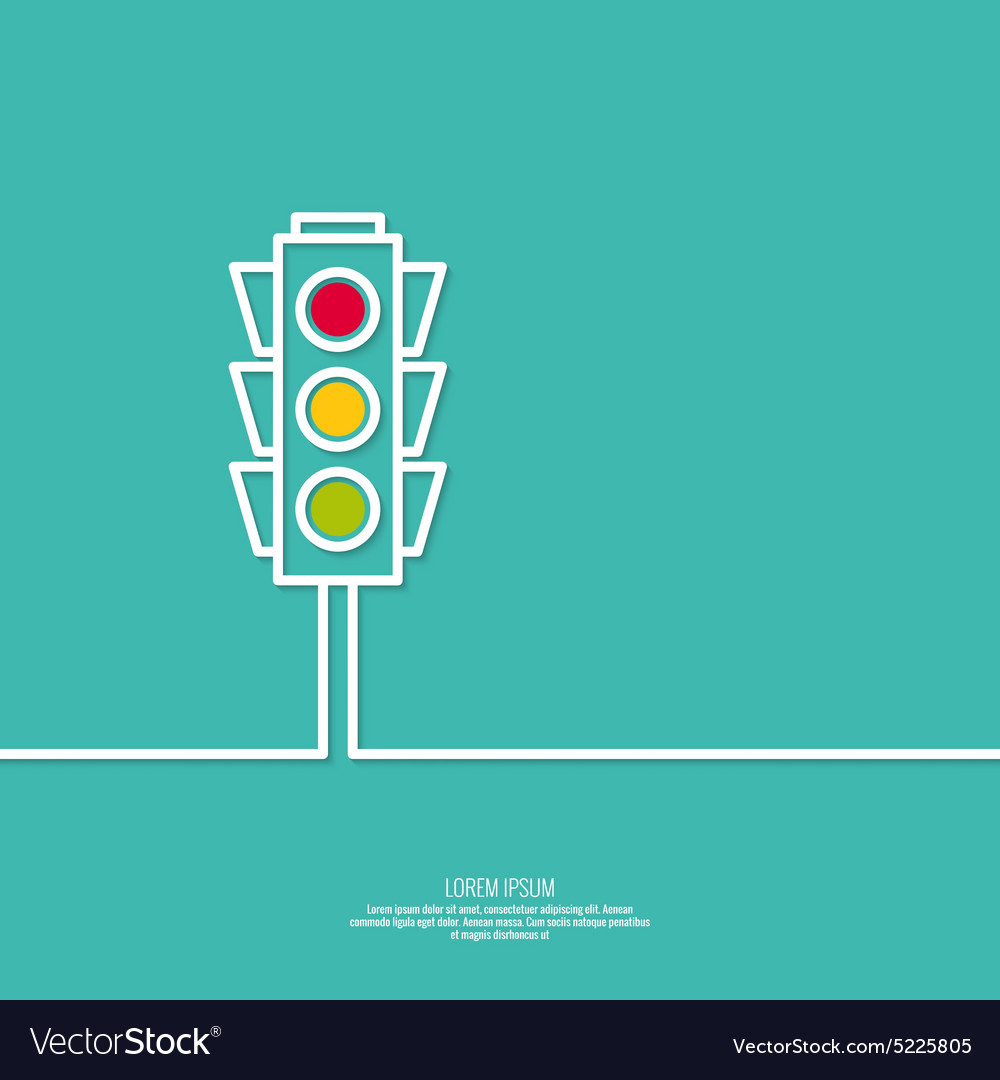 Abstract background with traffic lights vector